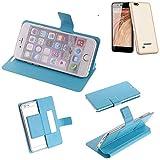 K-S-Trade Flipcover für Blaupunkt SL 04 Schutz Hülle Schutzhülle Flip Cover Handy case Smartphone Handyhülle blau