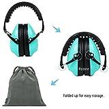 Becko verstellbar tragbar Kapselgehörschützer Lärmschutz Ohrenschützer gegen Lärm 27 dB Höchste NRR Kopfbügel mit weichem Ohrkissen für Kinder ab 3 Jahren (Grün/Violett)