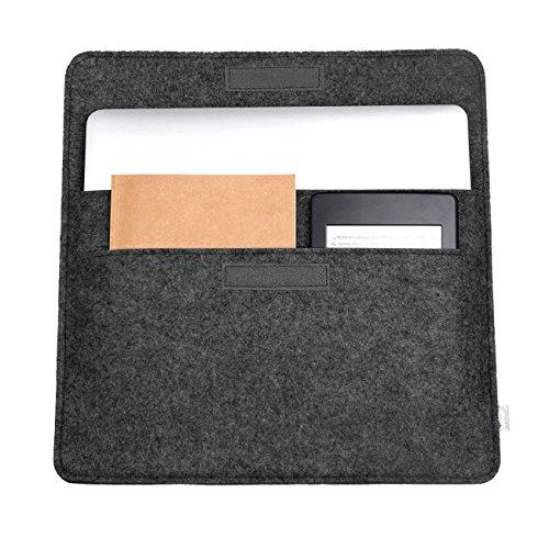 """13-13,3 Zoll Filz Sleeve Hülle Notebook Laptop Tasche für 13""""-13.3"""" Schwarz schwarz"""