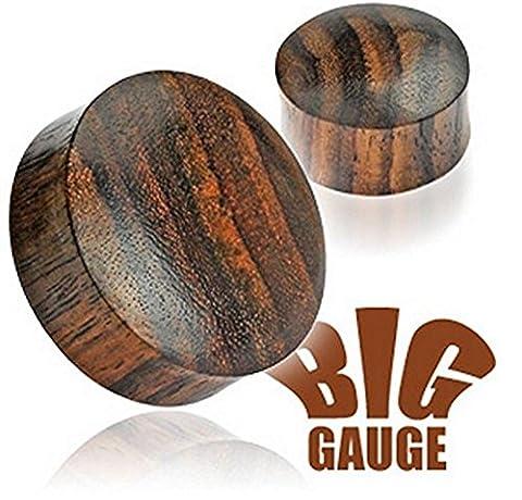 1 x 3mm natürliche organische Fest Sono Holz Big Spur Ohr Tunnel Sattel Stecker Piercing edelsten Materialien