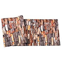 TUANMEIFADONGJI 3D wall sticker Brick Wall Effect Wallpaper Simulated Wallpaper For Bars Learning Bars Theme Restaurants Home Living Room Bedroom Sofa TV Setting Wall Decoration 57.4 Square Feet