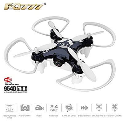 Kolylong Mini Quadcopter, WIFI Mini Pocket Drone 4CH 6-axis Gyro Quadcopter with 30W Camera