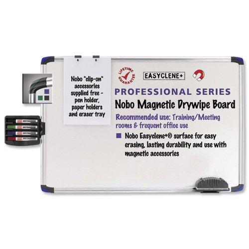 Nobo Prestige Quartet-Lavagna magnethaftende emailliert mit Montage-Kit und Schublade für Marker, W1800x H1200mm qp557g - Schublade Montage-kit