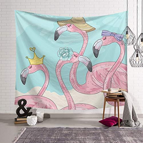XHcloth Camera da Letto con arazzo Flamingo Forest Tapestry Natural Art Tessuto in Poliestere Arazzo Living Room Bedroom Decor (Colore : E, Dimensioni : 150x130)