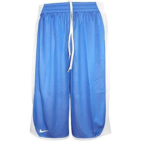 Nike Dri-FIT - Pantaloneta reversible para basketball de hombre, azul-blanco