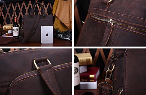 GeschäFts-Echtes Leder-MäNnliche Beutel-Ultra-DüNne Tablette-Computer-Beutel-Handtaschen-Aktenkoffer Schokoladenfarbe