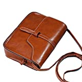LILICAT Handbag Women Shoulder Bags,Women Vintage Purse Bag Leather Cross Body Shoulder Messenger Bag (18.5cm(L)*13.5(H)*4cm(W), Brown)