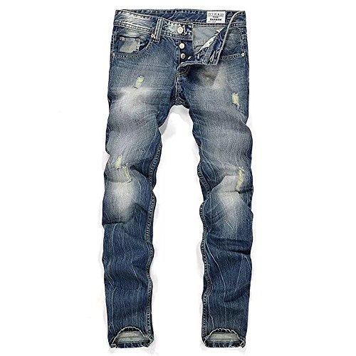 BicRad Herren Denim Jeans Hose Lang Freizeit Used...