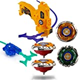 Wishkey High Speed Beyblade Metal Fusion Set with Launcher for Kids - Multi