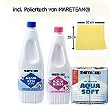 Sparpack 1 x Aqua Rinse Plus 1,5 Liter + 1 x Aqua Kem Blue 2 Liter + 1 Stk. Aqua Soft