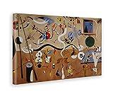 GIALLO BUS - BILD - DRUCK AUF LEINWAND - JOAN MIRO - CARNEVALE DI ARLECCHINO - 70 x 100 CM