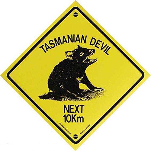 Tasmanian Devil mittel Road Sign Aussie plastica Nuovo 18x18cm VK107-1