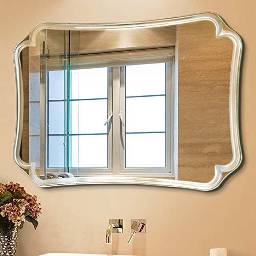 Ningvong Espejo baño Cuadrado sin Marco Espejo baño