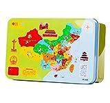 60 PCS reizende hölzerne Eisen-Kasten-Puzzlespiel-Dekompressions-Puzzlespiel-Spielzeug / Geschenk-Karte A