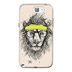 DailyObjects Hipster Lion Light Mobile Case For Samsung Galaxy Note 2
