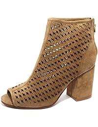 B2260 tronchetto spuntato donna ASH FLASH scarpa marrone boots shoe woman