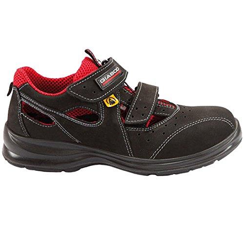 Giasco 91N93C36 Miami Chaussures de sécurité bas S1P Taille 36 Noir/Rouge