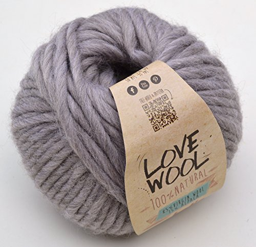 Katia Love Wool Farbe 102 Wolle mit Alpakawolle zum Stricken & Häkeln -