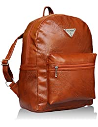 Fantosy Brown Backpack Women Shoulder Bag