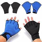 CAMTOA Schwimmhandschuhe Fitness Webbed Fingerlose Swim Handschuh