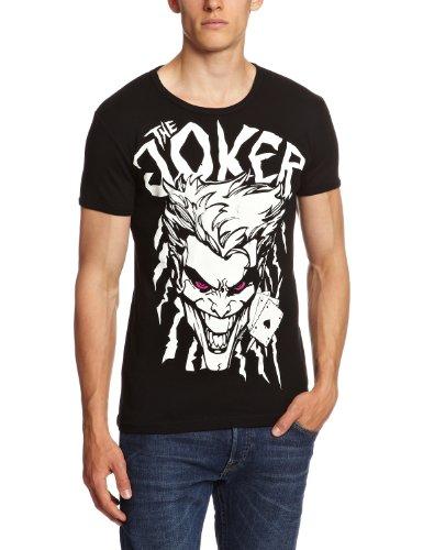 Logoshirt - Camiseta Slim fit de Batman con Cuello Redondo Unisex, Talla Large, Color Negro
