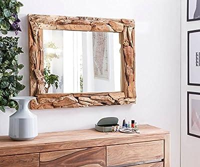 Spiegel Palmiro Altholz Natur 100x80 cm Massivholz Unikat Handarbeit Wandspiegel