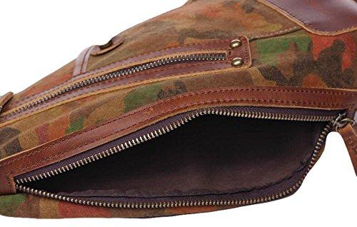 Herren Taschen Brust Casual Fashion Wild Camouflage Retractable Messenger Bag Männer & Frauen Umhängetasche Leinentasche Blue