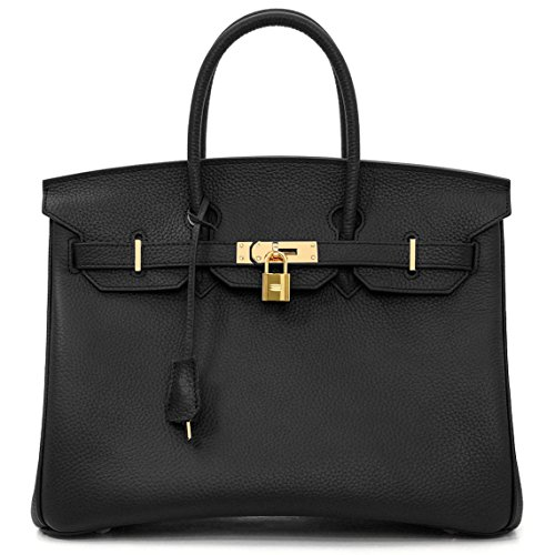 Macton , Damen Henkeltasche Schwarz schwarz (Hermes Tasche)