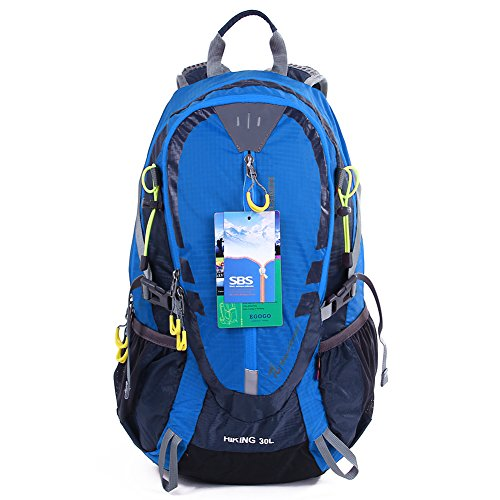 Egogo 30l ciclismo outdoor escursionismo zaino impermeabile in esecuzione campeggio zainetto con rain cover s2310 (blu)