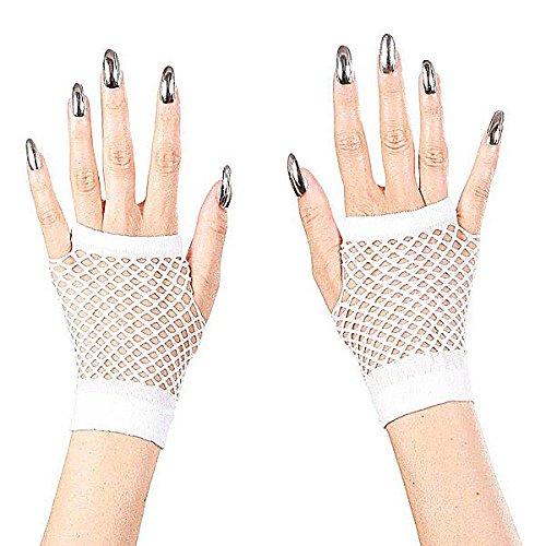 (Widmann 1488H–Netz-Handschuhe ohne Finger, weiß, Erwachsene)