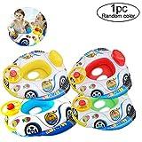 Xiton 1 PC Pool Aufblasbares Spielzeug Kinderboot Schwimmen-Ring Baby-Pool-Schwimmer Nettes Car Design Safe PVC Schwimmhilfe FüR Kinder Kinder Von 2-5 Jahren (ZufäLlig)