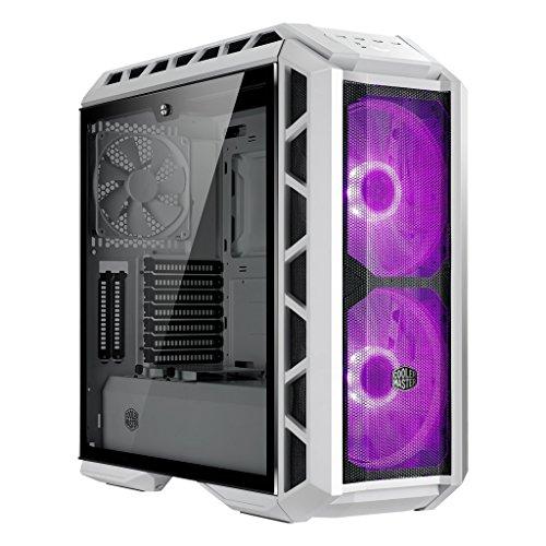 Cooler Master MasterCase H500P Mesh White Case per PC 'E-ATX, ATX, mATX, mini-ITX, RGB LED, Pannello Laterale in Vetro Temperato' MCM-H500P-WGNN-S00