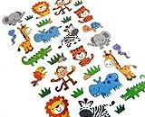 Wildes Tier Aufkleber Löwen Affen usw - Kinder / Kinder Etiketten für party taschen , scrap bücher , karten herstellung oder notizbuch dekoration