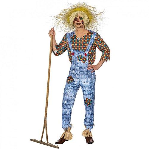 Kostüm Vogelscheuche Udo Gr. 50- 60 Latzhose Hemd Mottoparty Garten Karneval (54/56) (Zauberer Von Oz Vogelscheuche Kostüm)