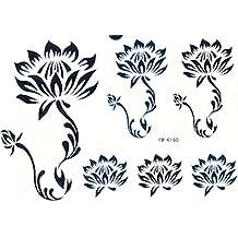 "GGSELL GGSELL adhesivo Tamaño 6,30""x 6,30"" última venta caliente y moda Tempoary Tatuajes Pegatinas 6Lotus en un papel adhesivo"