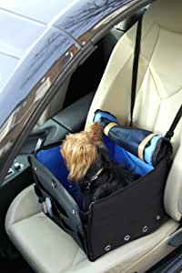 DOG CAR BOOSTER SEAT FOR SMALL & MEDIUM DOGS, BLACK