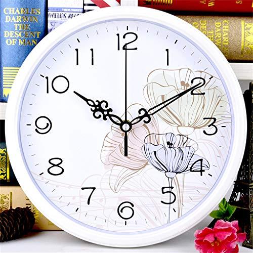 ZQQBRZXFT Cuarzo de Pared Silencioso Reloj De Pared Silencioso Redondo, Reloj Moderno Que Sin Tic-TAC...