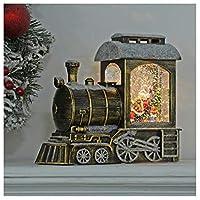 Mr Crimbo LED Snow Train Santa Glitter Water Spinner Christmas Decoration 24cm