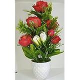Ethnic Karigari Home Decor Incredible Designer Decorative Indoor Flower Vase Red Roses For Office Desk Decoration For Drawing Room Corner Shleves | Hall | Living Area