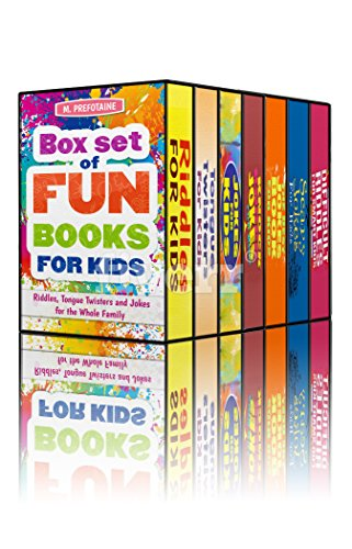 Box Set of Fun Books for Kids: Riddles, Tongue Twisters and Jokes ...