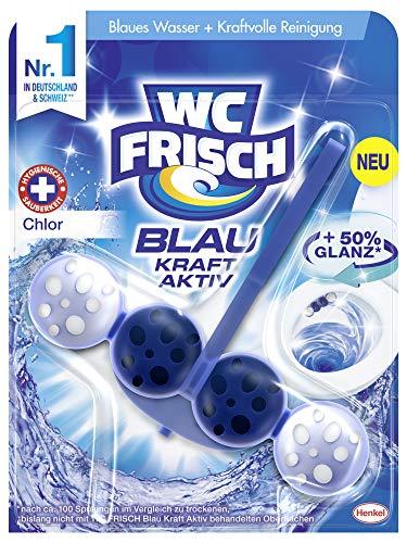 WC-Frisch Kraft Aktiv Blauspüler Chlor, für hygienische Sauberkeit (1 x 50g)