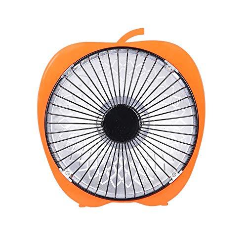 laonBonnie Winter Mini Solar Kreative 6 Zoll Cartoon Elektrische Heizung Büro Desktop Heizung Kleine Heizung Fan Orange -