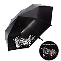 Pawaca Color Changing Windproof Waterproof UV-Protection Parasol Umbrella