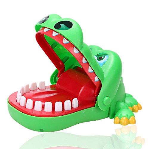 Smibie Kroko Doc Krokodil Zahnarzt Kinderspiel Mund Biss Finger Spielzeug Schnap-Spiel Krokodil Spielzeug für Kinder - Dino Dog Kostüm