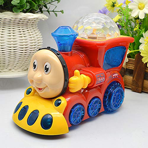 Bump and Go Musical Engine Train with 4D Light and Sound Toy for Kids