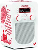 Pure Evoke D2 by Rob Ryan Designer DAB/FM Radio with Bluetooth - Red