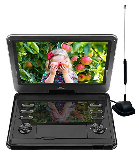 D12HBDT: 30 cm (12 Zoll) tragbarer Fernseher und DVD-Player (HD Ready 1.366 x 768, eingebauter Akku, SD-Karten-Slot, USB-Anschluss, Fernbedienung, Kfz-Ladekabel), schwarz