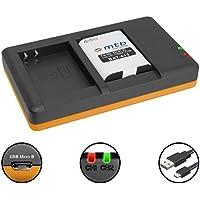 Batería + Cargador doble (USB) para EN-EL23 / Nikon Coolpix B700, P600, P610, P900, S810c - contiene cable micro USB