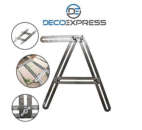 Multi Winkel Lineal Vorlage Tool Edelstahl-für allgemeine Heimwerker & Ingenieure, Profimeister wie Tischler, Dachdecker.