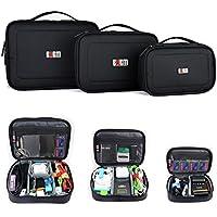 3pcs/set impermeabile portatile Accessori elettronici Viaggi Organizzatore Case / disco rigido sacchetto / sacchetto cosmetico